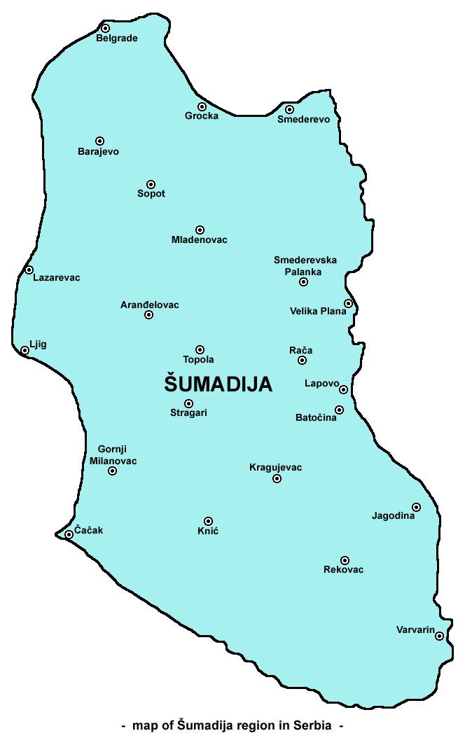 sumadija mapa Šumadija   Wikipedia sumadija mapa