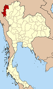 Map of Thailand highlighting Mae Hong Son Province}