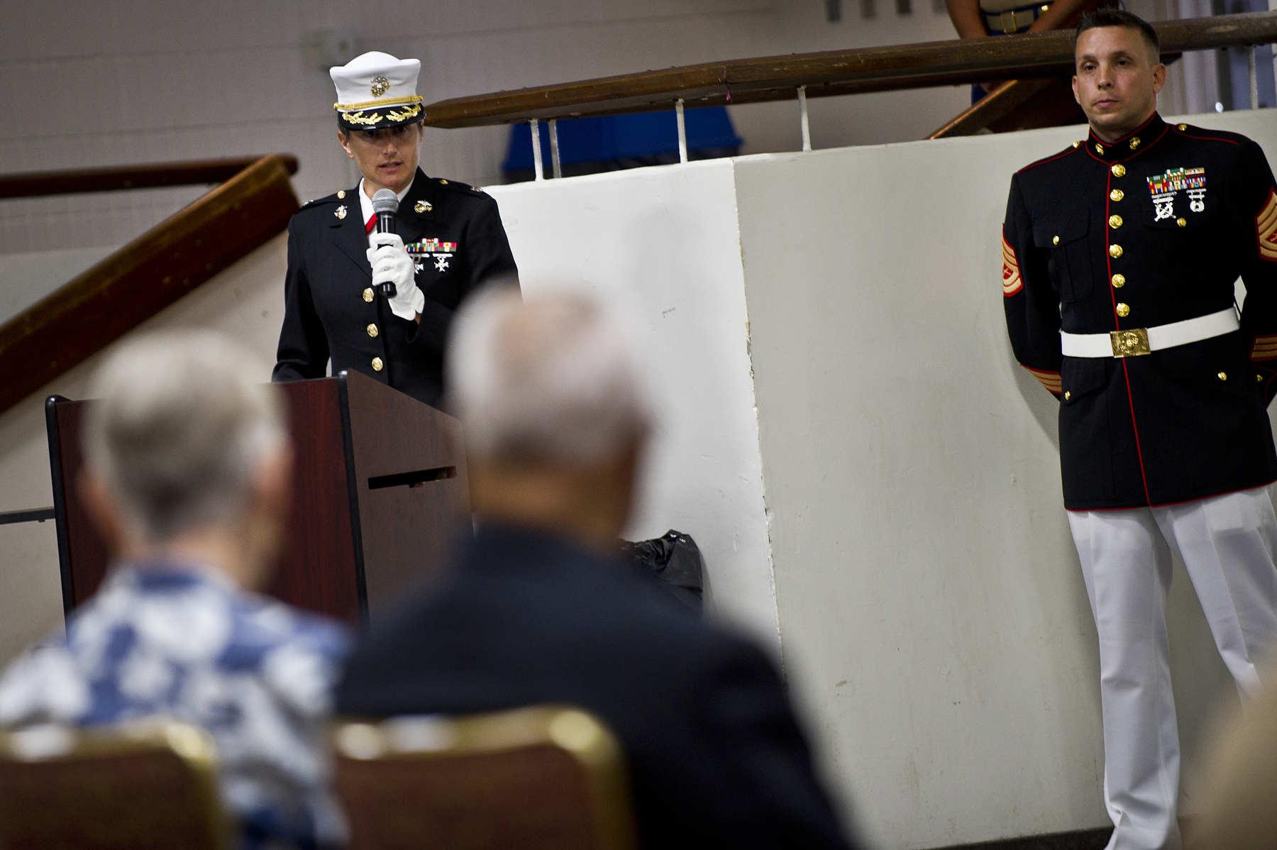File:U.S. Marine Corps Lt. Col. Carolyn Bird, Commanding ...