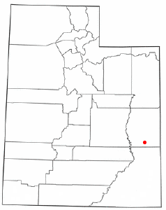 Location of Moab within Utah
