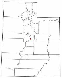 Location of Moroni, Utah