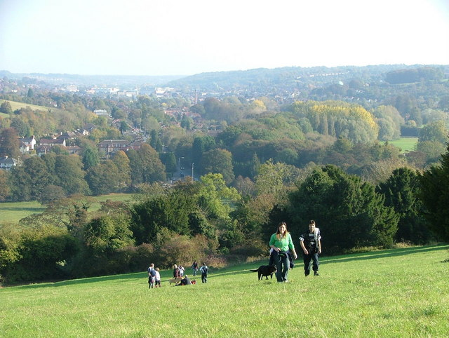View towards High Wycombe from West Wycombe hill - geograph.org.uk - 591618