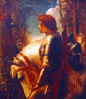 {{no|Sir Galahad, detalj fra et maleri av Geor...