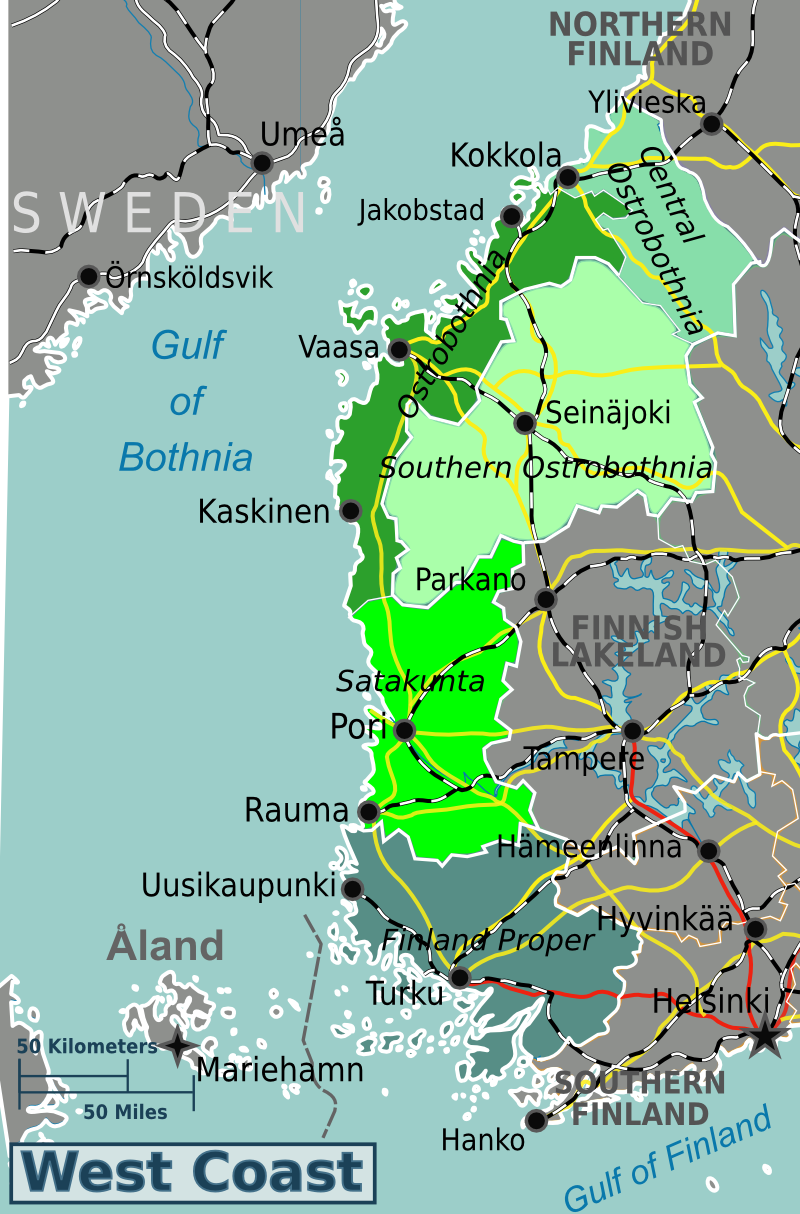 West Coast Finland Travel guide at Wikivoyage