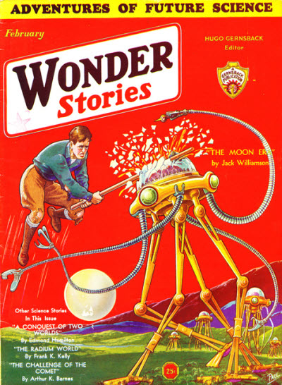 "Williamson's ""The Moon Era"" was cover-featured on the February 1932 Wonder Stories Wonder stories 193202.jpg"