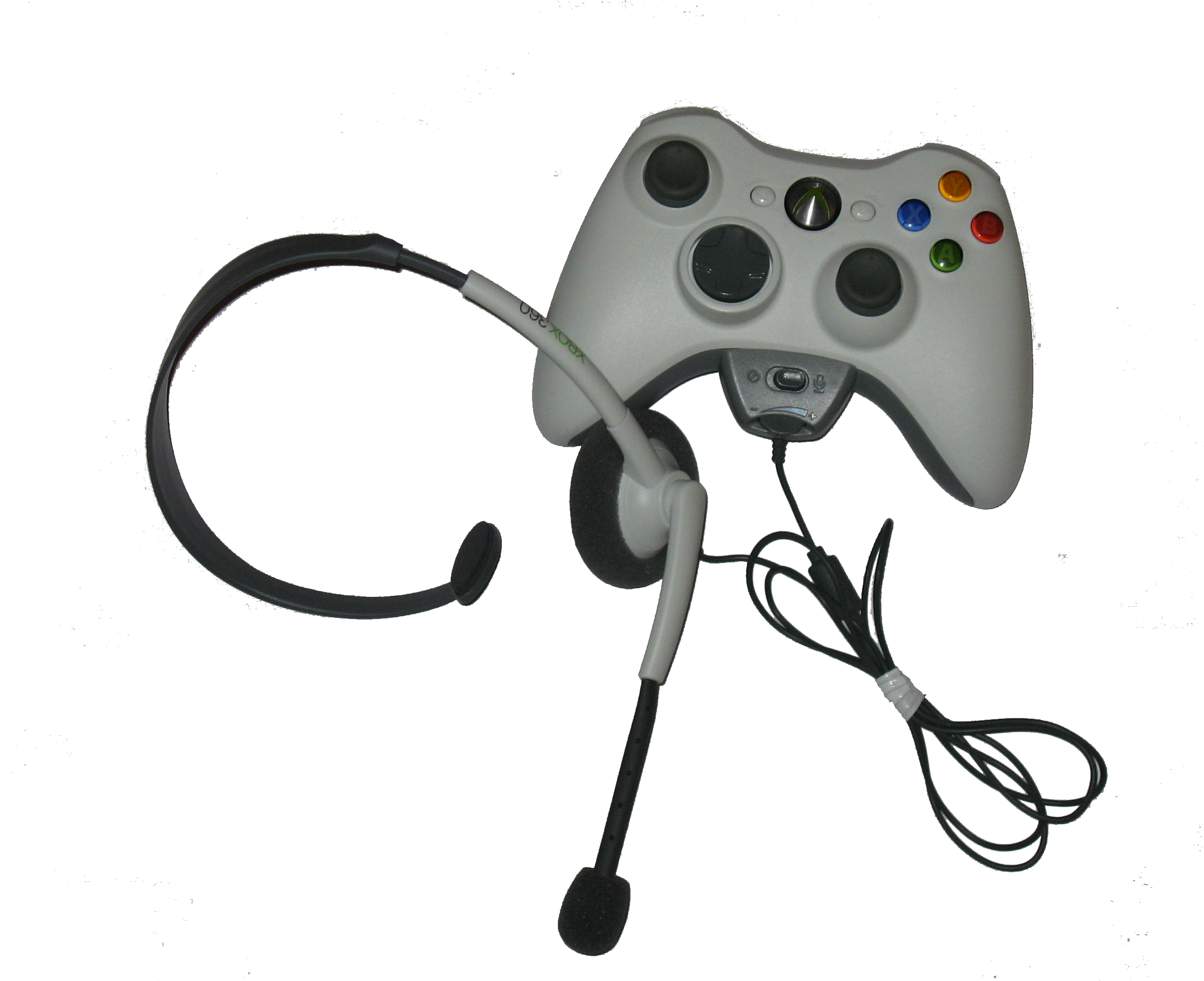 how to use xbox 360 controller mic on pic