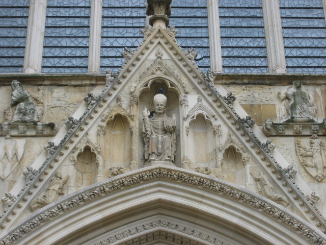 File:York Minster - Carvings above the doors.jpg
