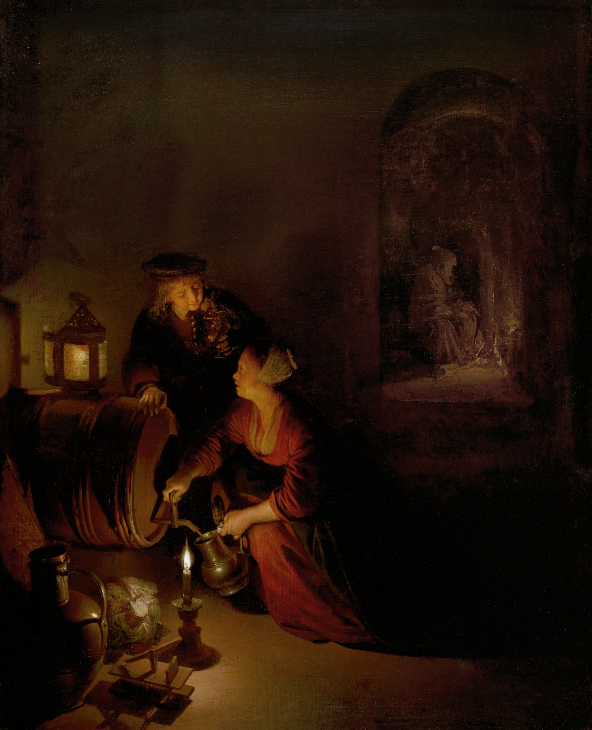 File:'The Wine Cellar' ('An Allegory of Winter') by Gerard Dou.jpg ...