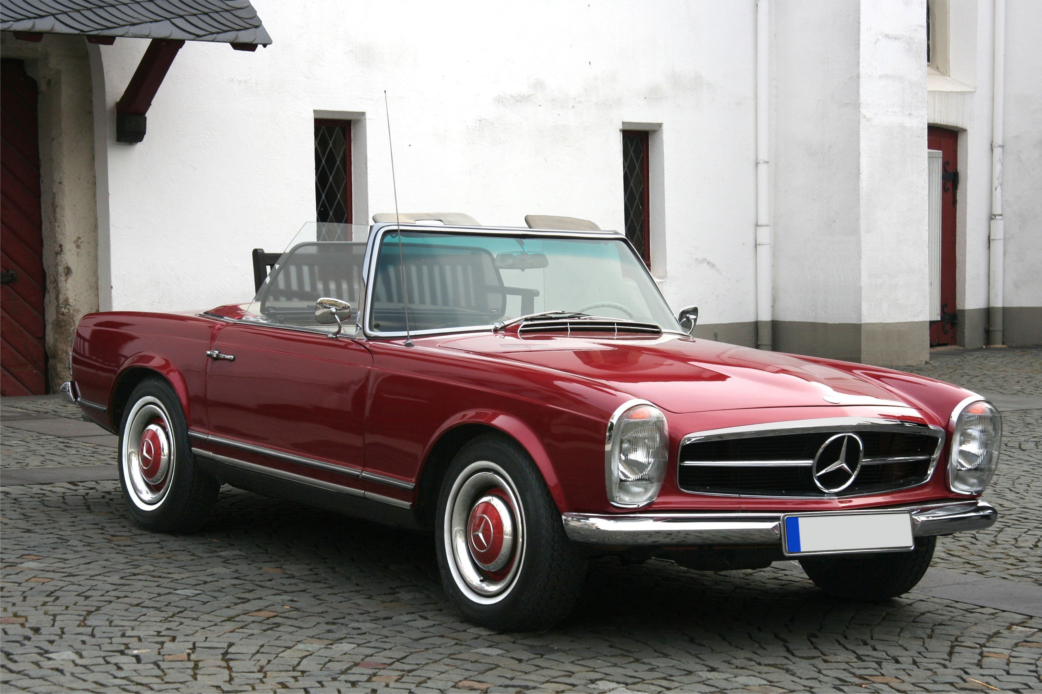 File 1964 Mercedes Benz 230sl Roadster Front 3q Jpg