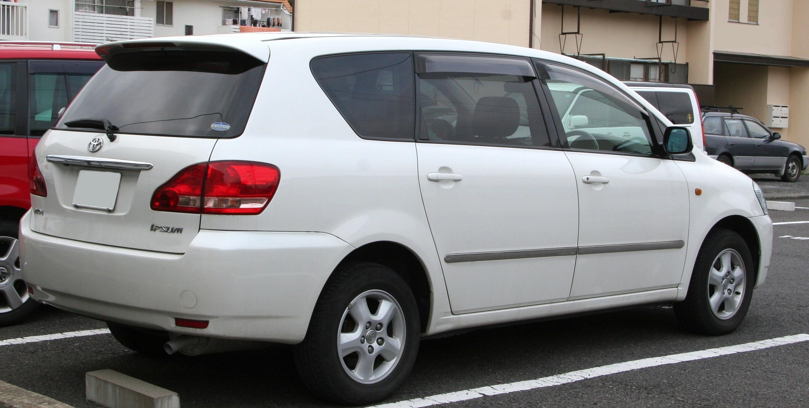 File 2001 2003 Toyota Ipsum Rear Jpg Wikimedia Commons