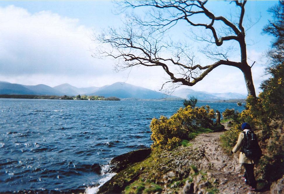 West Highland Way trail in Scotland