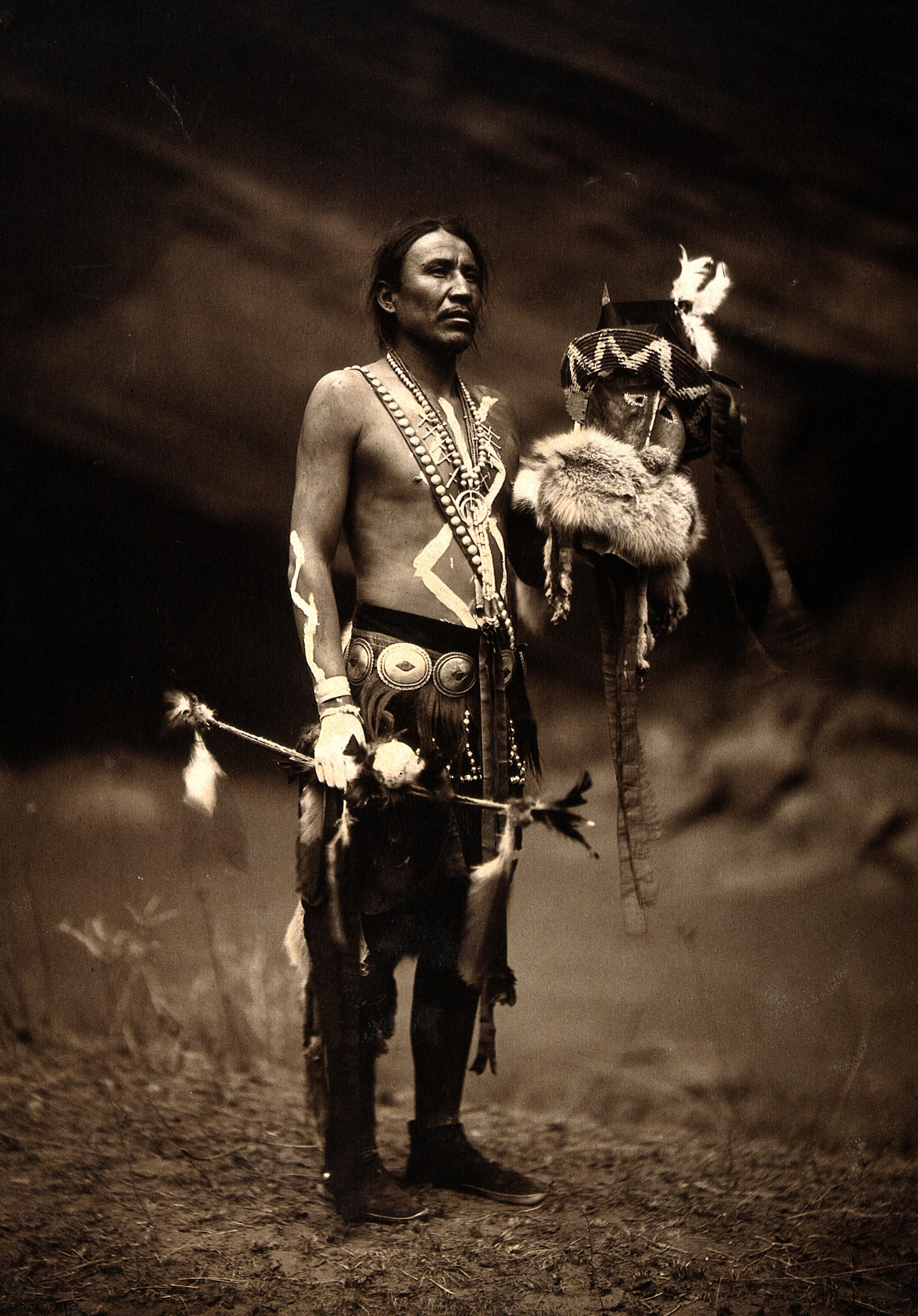 Homme indien unique larme