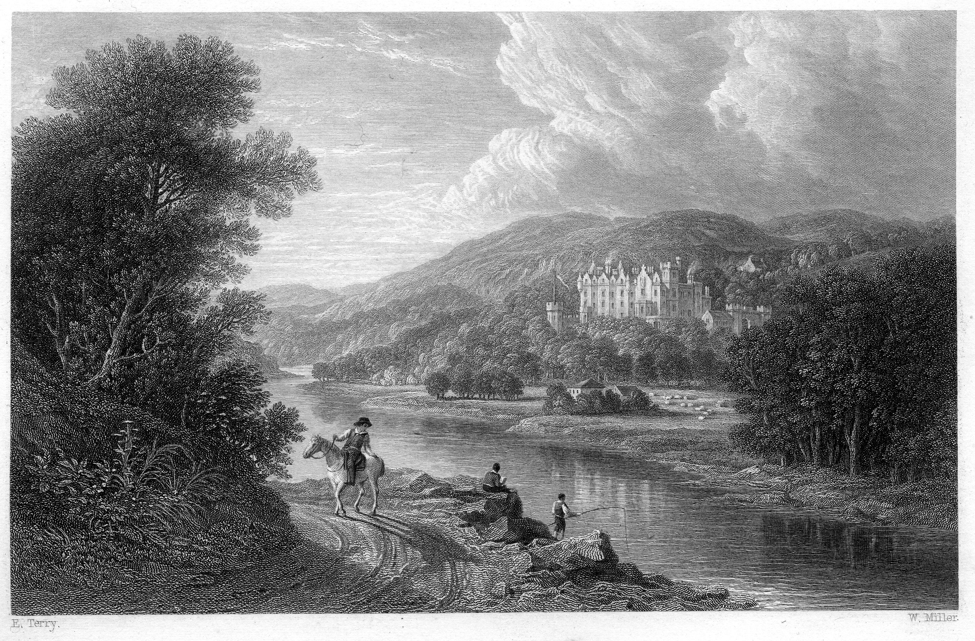 Abbotsford (WI) United States  City pictures : Abbotsford from North bank of Tweed engraving by William Miller ...