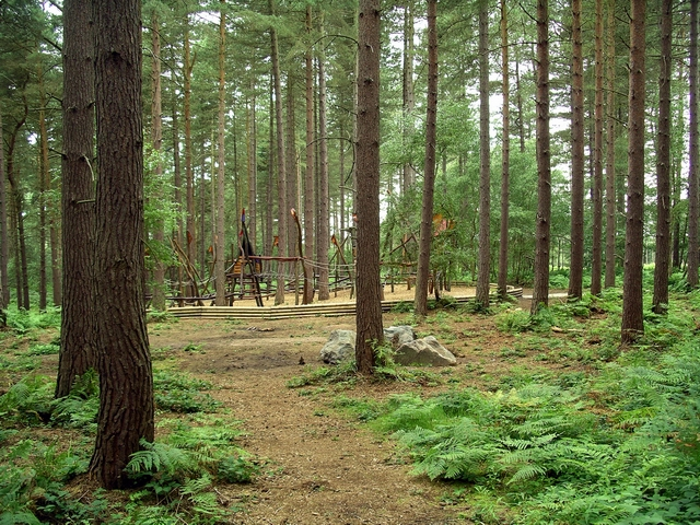 Adventure playground, Sherwood Pines - geograph.org.uk - 511834