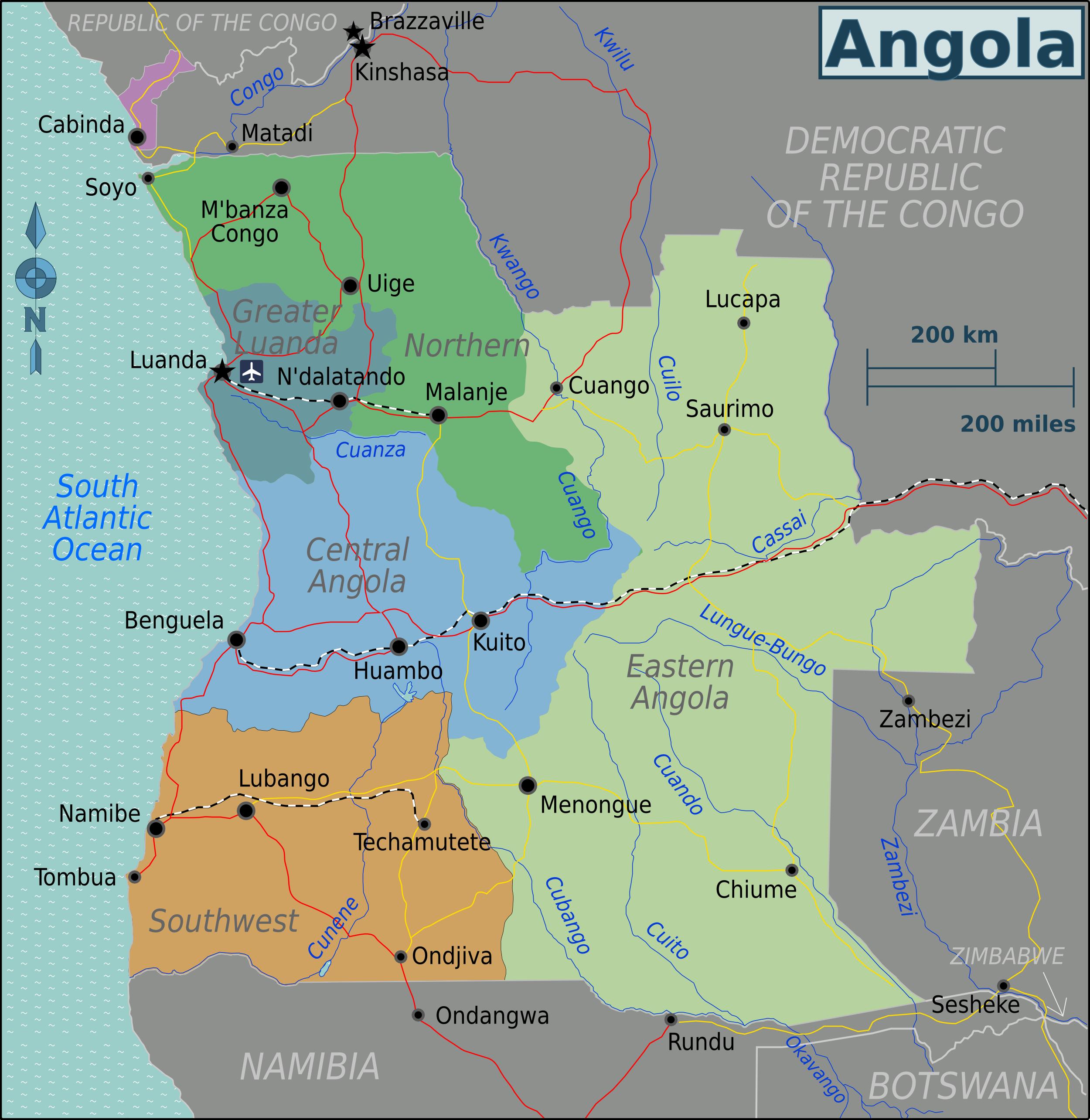 FileAngola Regions Mappng Wikimedia Commons - Angola map