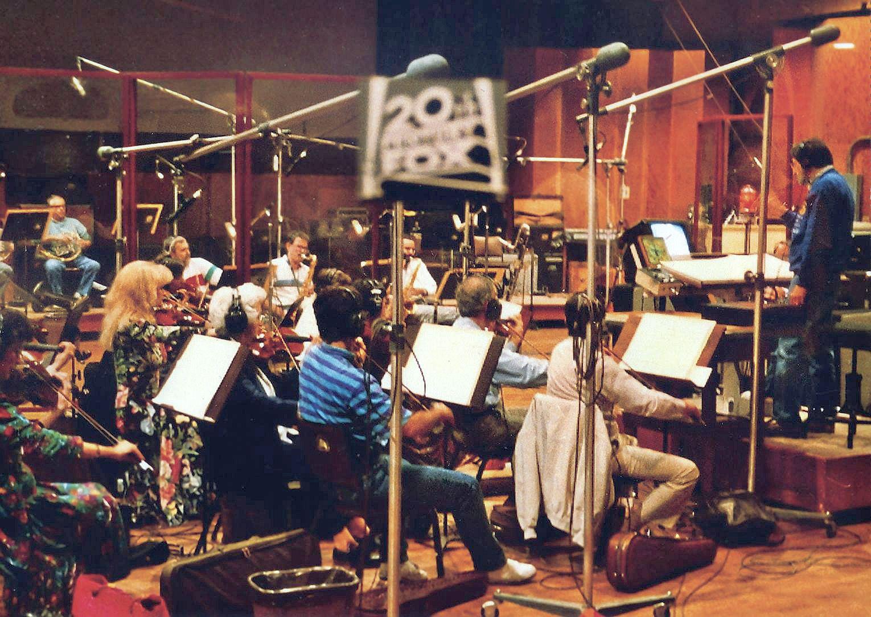 Artie Kane conducting at 20th Century Fox