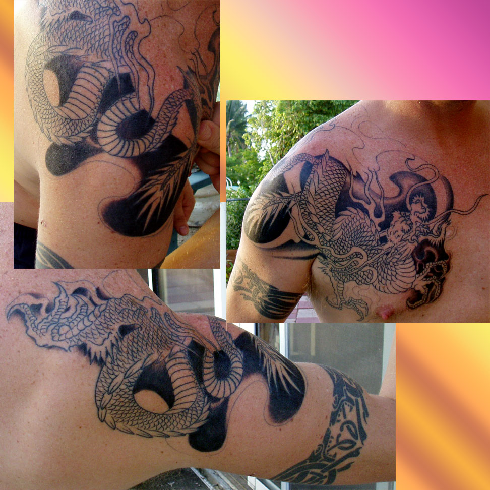 Dragon Tattoos: File:Asian Dragon Tattoo (uncomplete).jpg