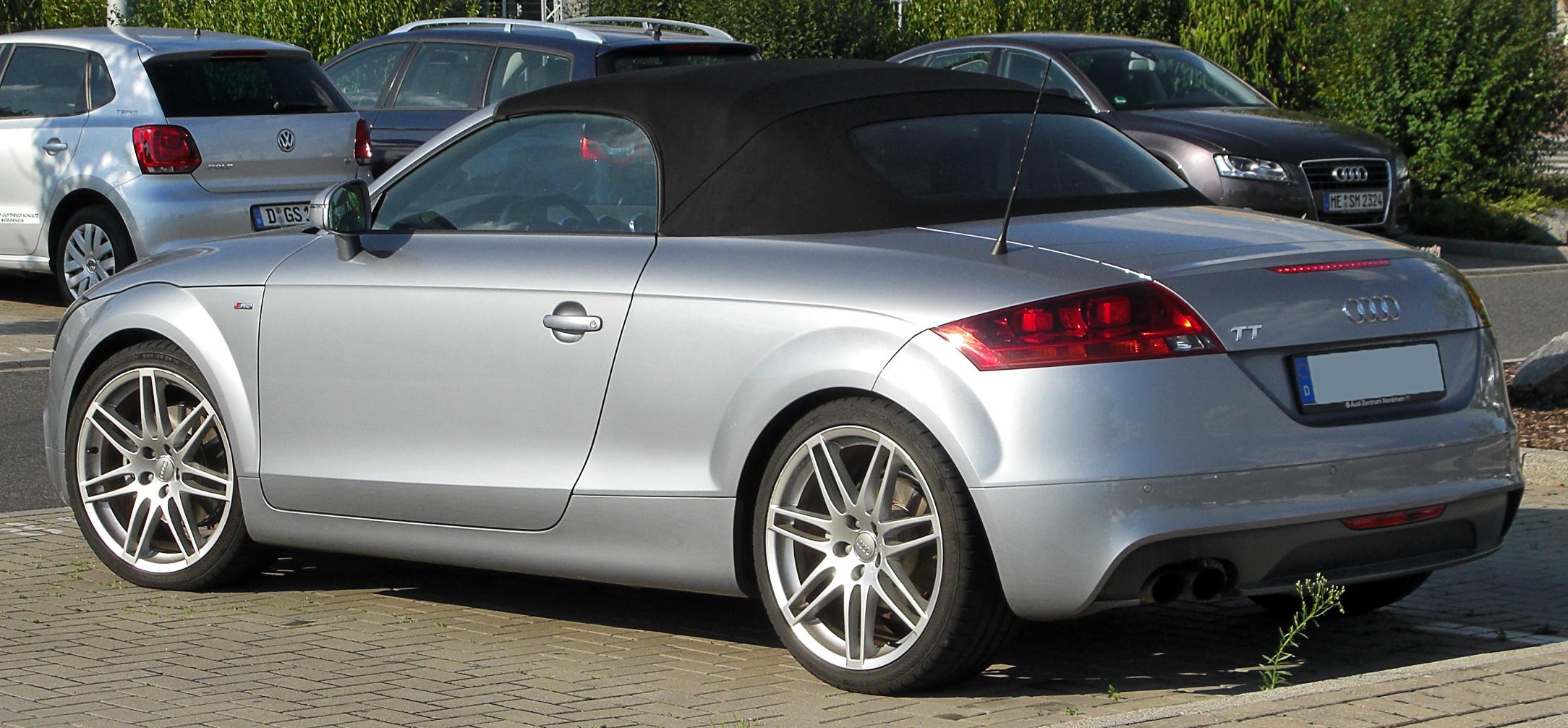 File Audi Tt Roadster 8j Rear 20100724 Jpg Wikimedia