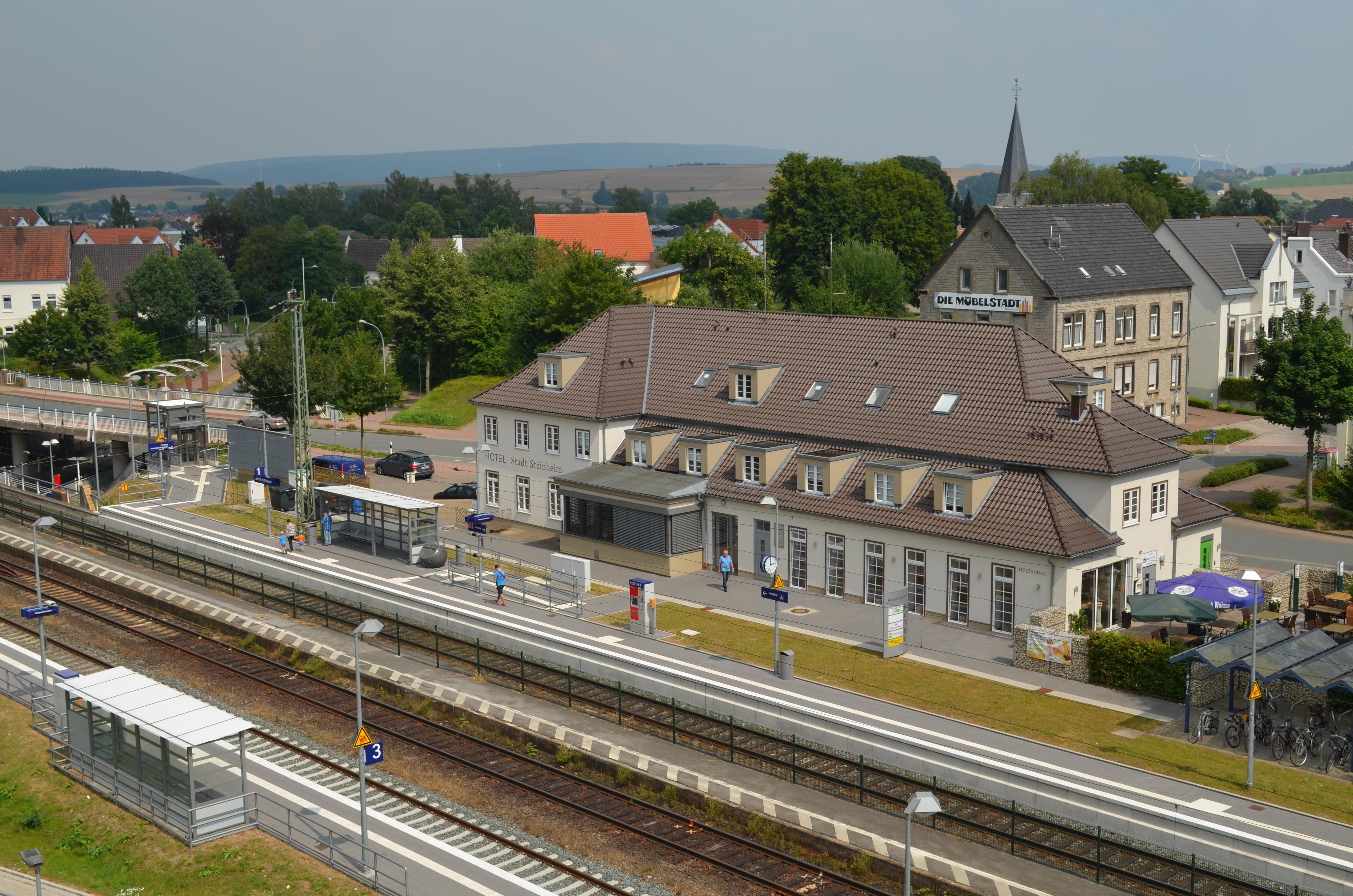 Datei Bahnhof Steinheim Im Jahr 2016 Jpg Wikipedia