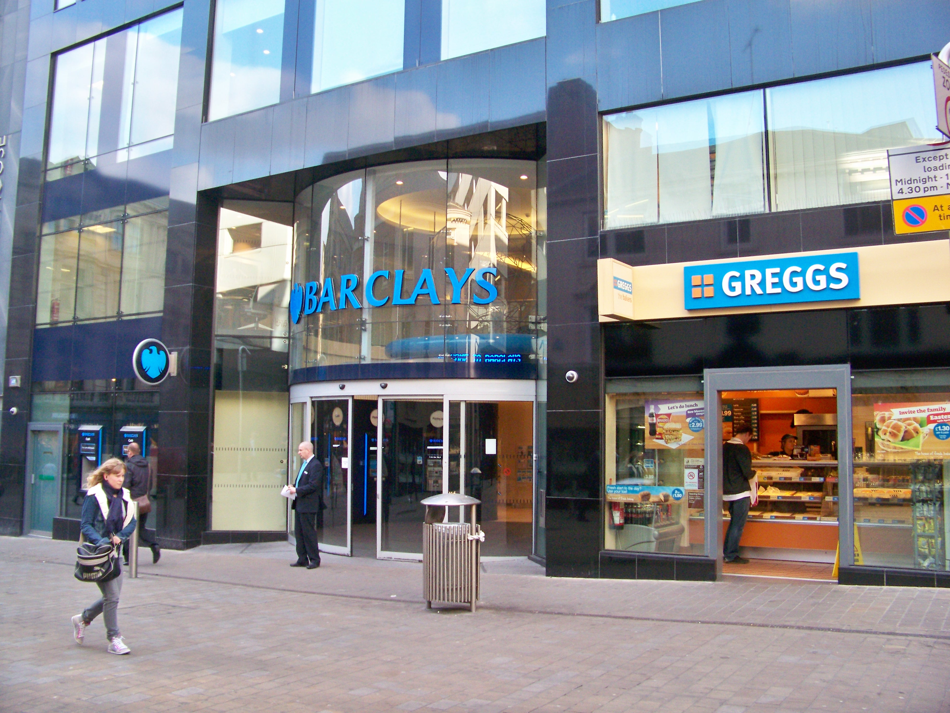 FileBarclays And Greggs Albion Street Leeds 11th April 2011