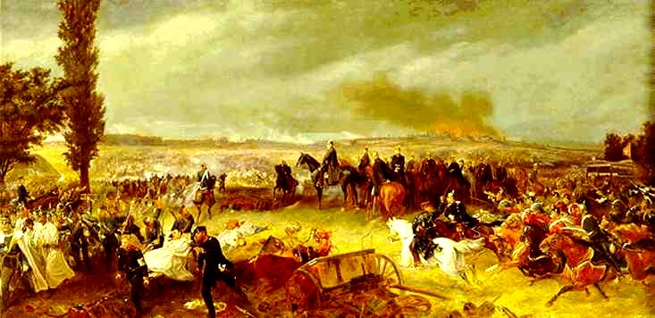 Soubor:Battle of Koniggratz by Georg Bleibtreu.jpg