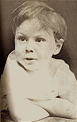 Russell as a four-year-old