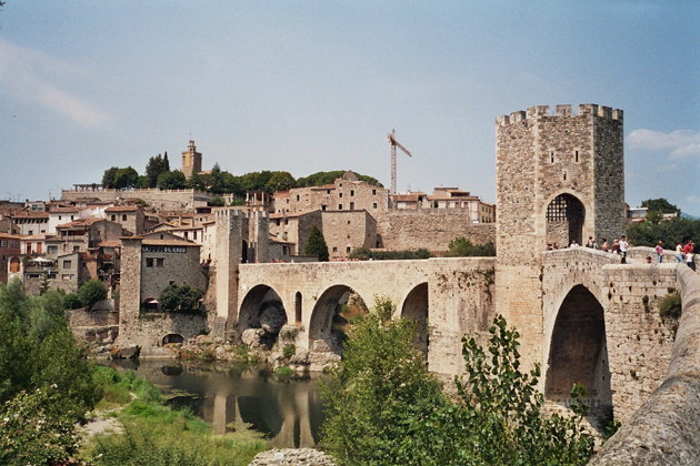 Bridge of Besalú, Girona, Spain
