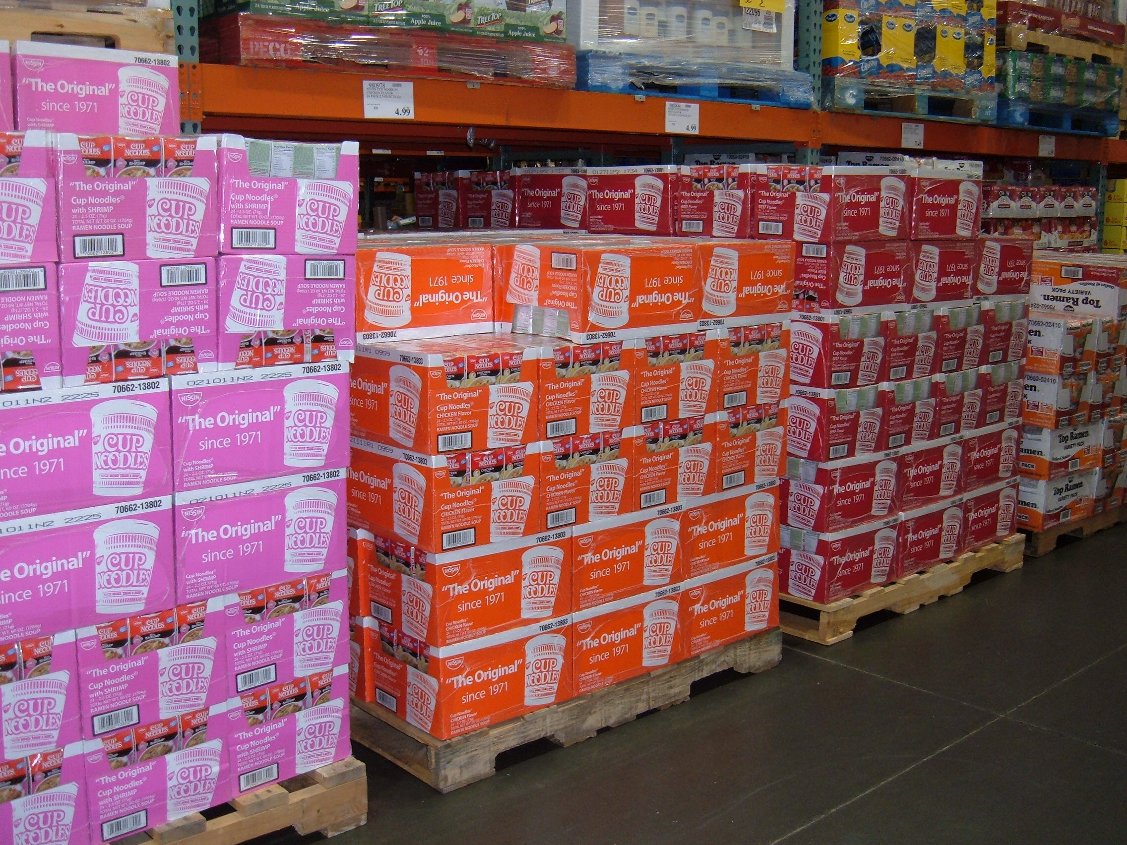 ... Cup Noodles on pallets at Costco, SSF ECR.JPG - Wikimedia Commons