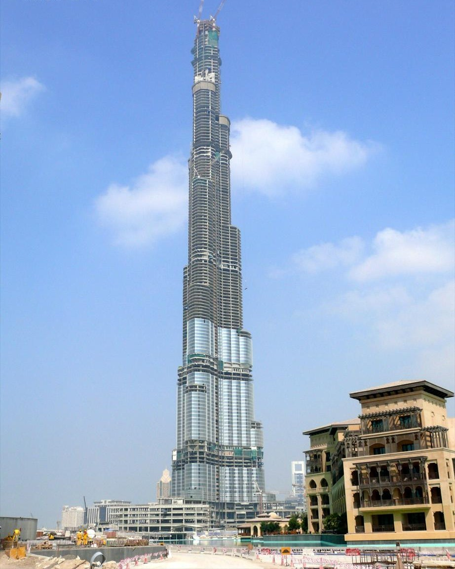 file burj dubai under construction on 13 november wikimedia commons. Black Bedroom Furniture Sets. Home Design Ideas