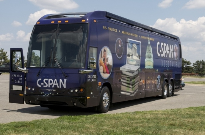 graphic about C Span Printable Schedule known as C-SPAN Bus application - Wikipedia