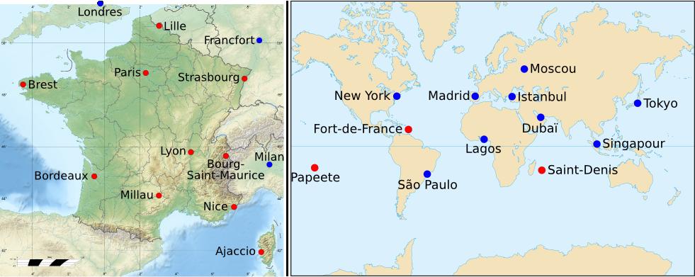 Canada Carte Ville Et Region