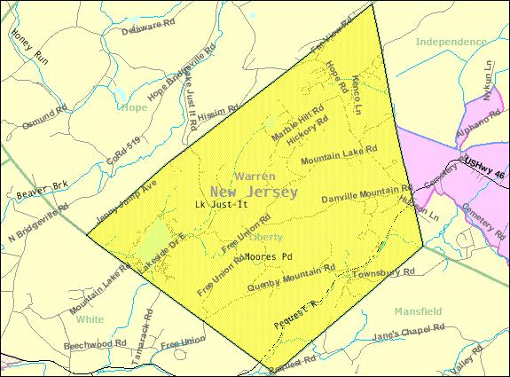 Census Bureau map of Liberty Township, New Jersey