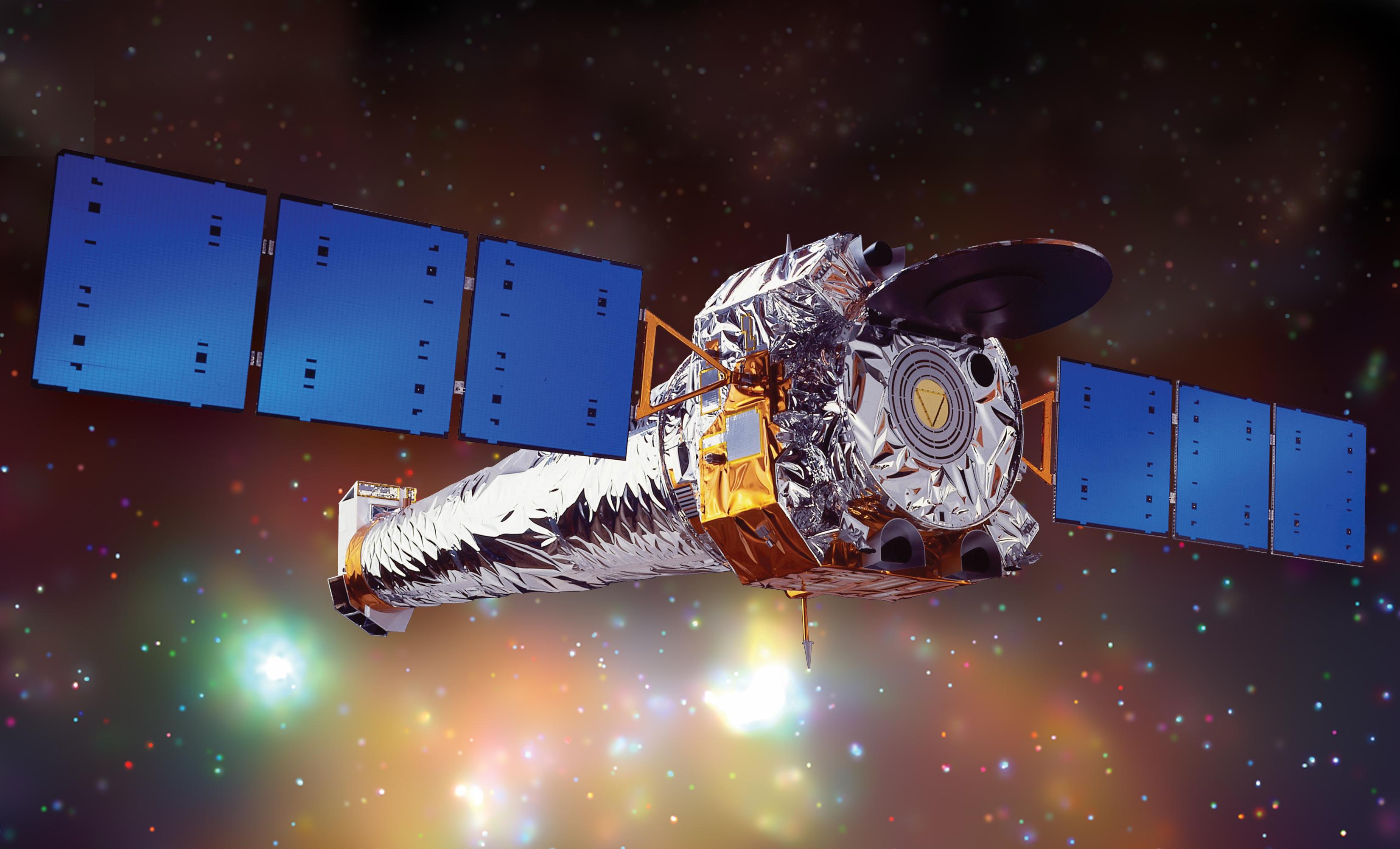 Obserwatorium rentgenowskie Chandra krąży wokół Ziemi w odległości około 86 500 mil