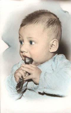 Charly Alberti cuando era bebé.
