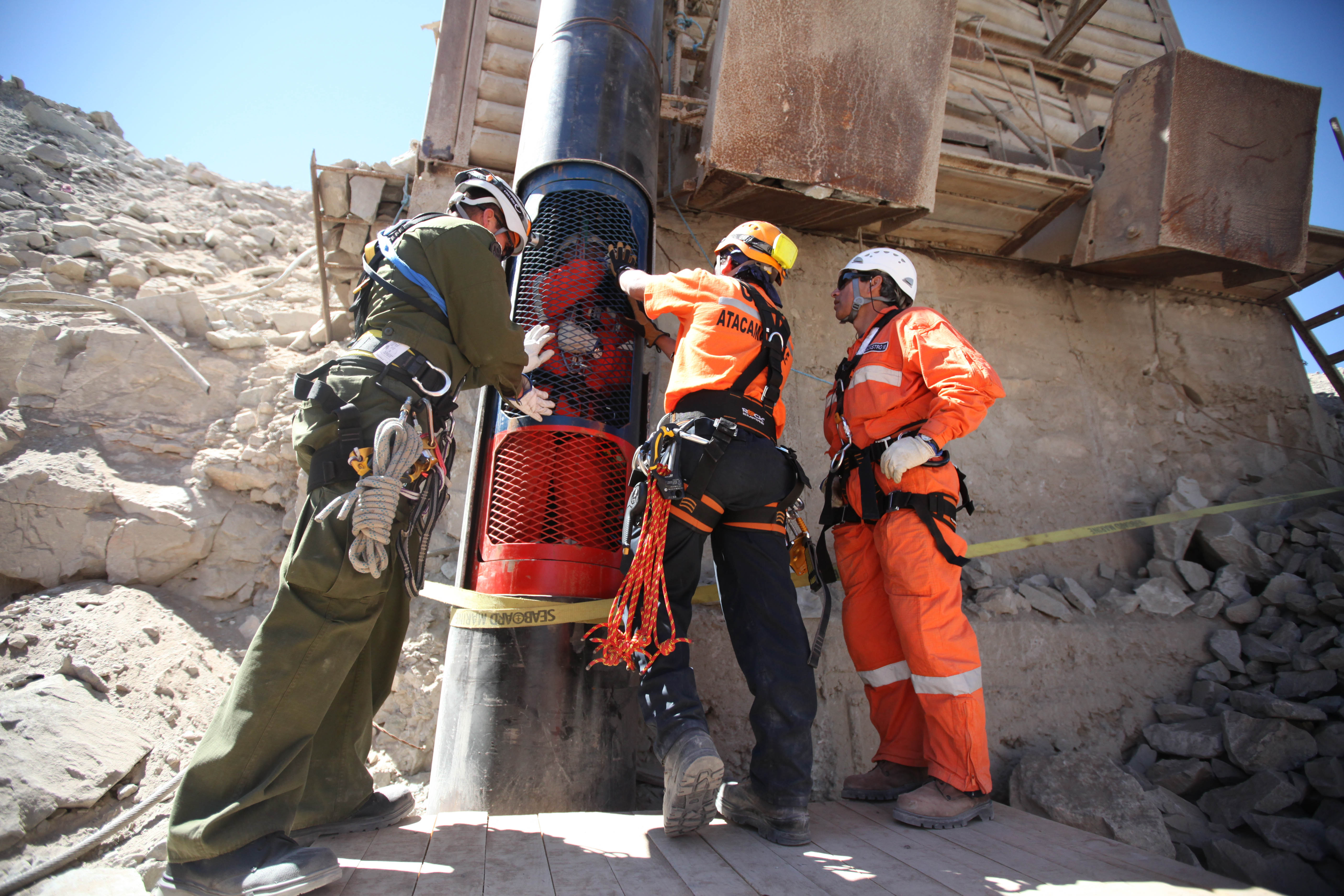 rescue of miners in chile After weeks of frantic drilling, their rescue finally appears to be imminent  san  jose mine, chile—in early august, 33 miners descended.