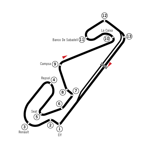 The circuit features a mix of