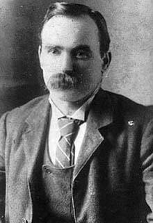 Irish Labor Leader James Connolly in 1900. Adventures in Belfast