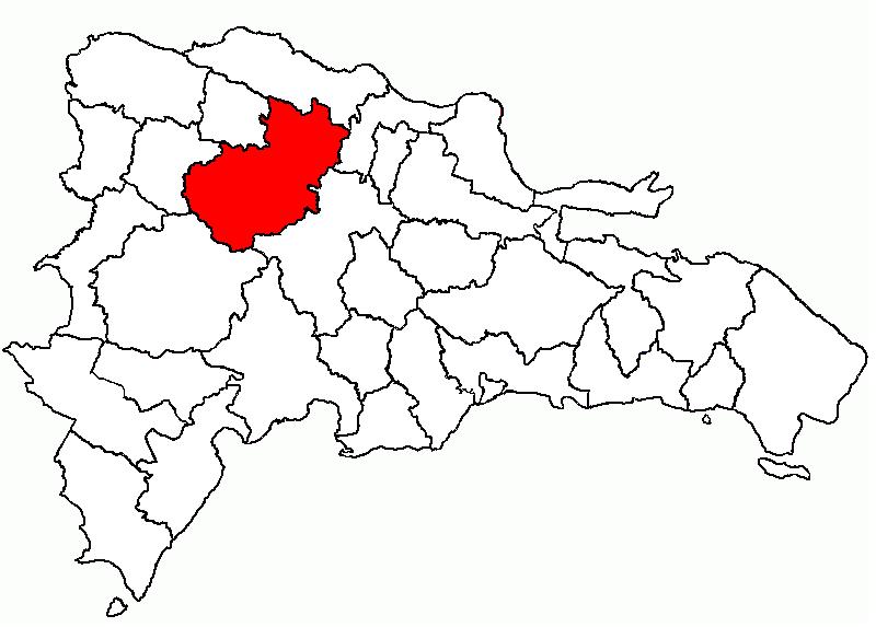 Mapa de Santiago en la República Dominicana