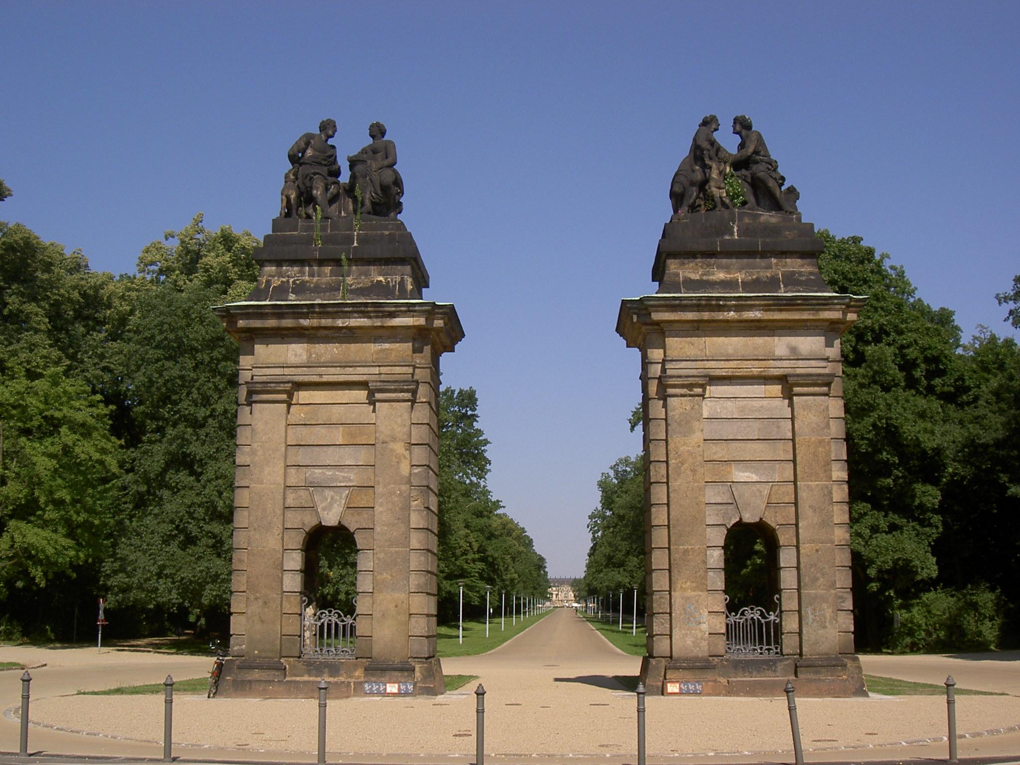 Filedresden Großer Garten Eingangjpg Wikimedia Commons
