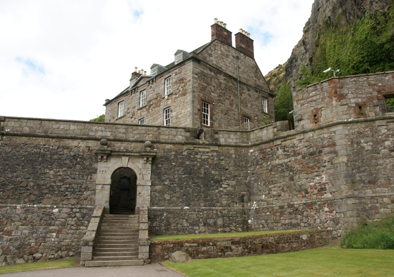 Dumbarton Castle, West Dunbartonshire, Scotland - south entrance