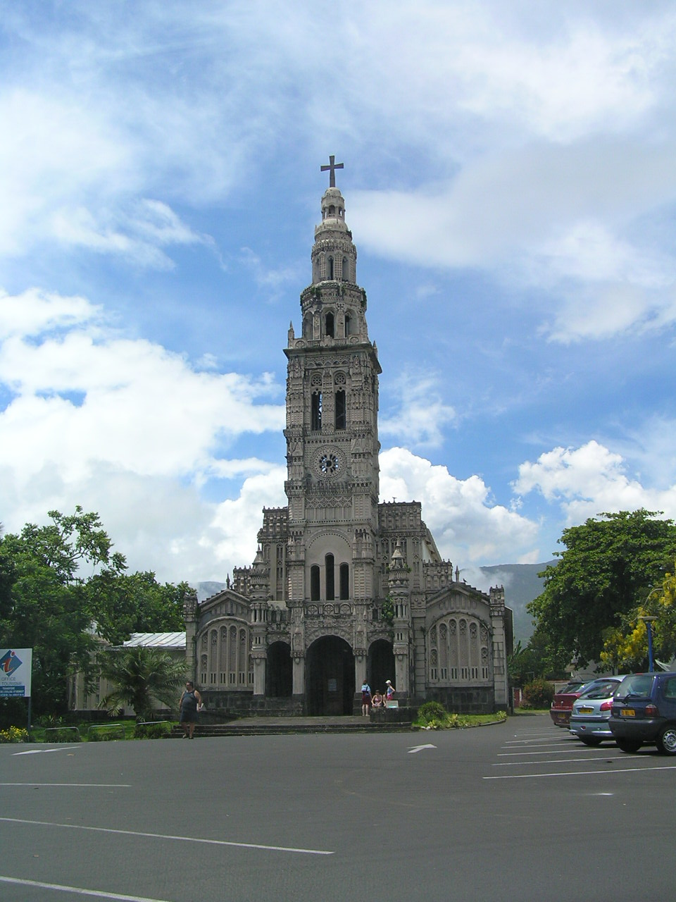 Saint-Anne church in Saint-Benoît Réunion island.