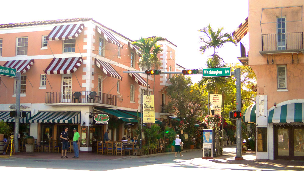 Espanola Way and Washington Avenue