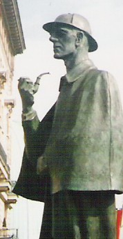 Monument of Sherlock Holmes in London
