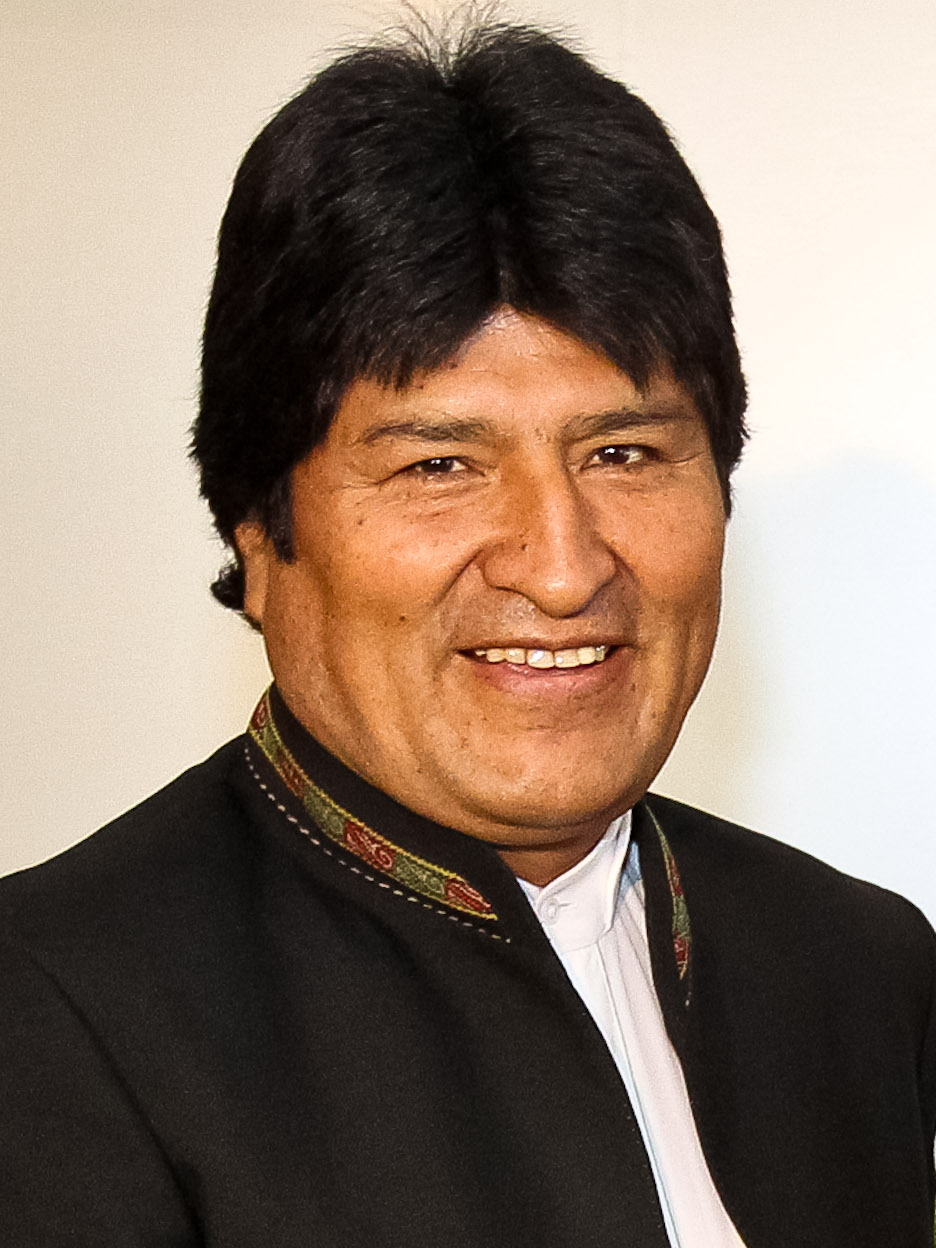 Depiction of Evo Morales
