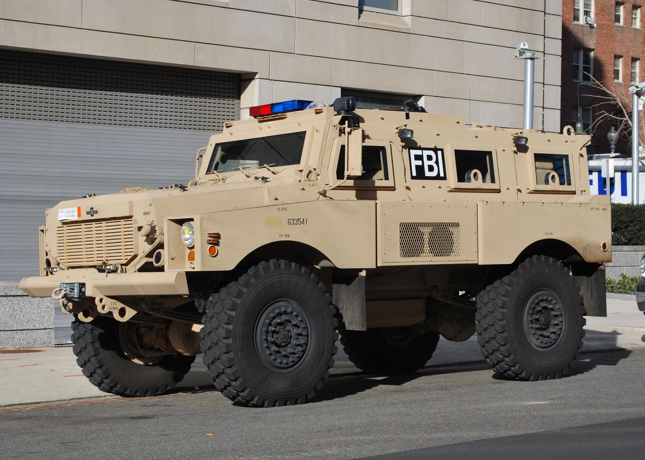 File:FBI Mine Resistant Ambush vehicle.jpg  Wikimedia Commons