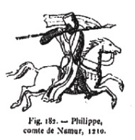 Reproduction d'un sceau. Cavalier galopant, lance pointée