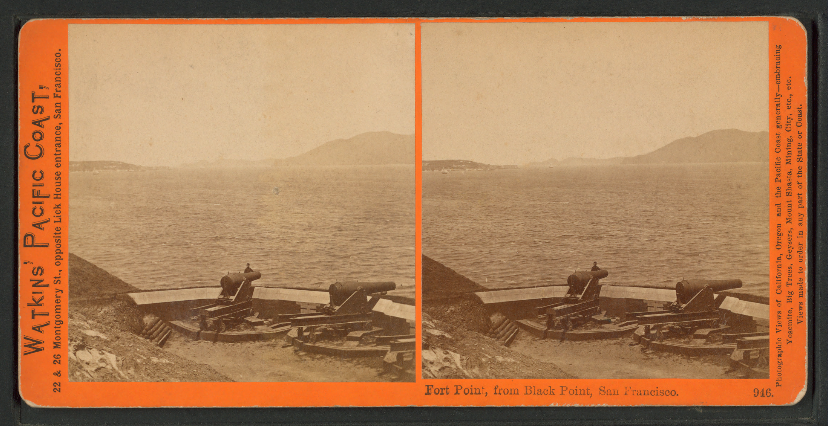 file fort point  from black point  san francisco  from robert n  dennis collection of
