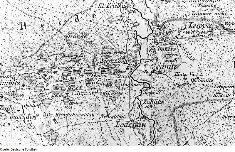 Fotothek df rp-c 0990021 Rothenburg-O.L.-Steinbach. Atlas von Schlesien, Kr. Rothenburg, Verlag von C. Fl.jpg