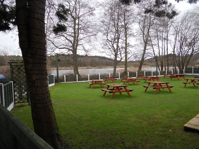 Garden of the Carrier Inn, Hatchmere - geograph.org.uk - 2263450