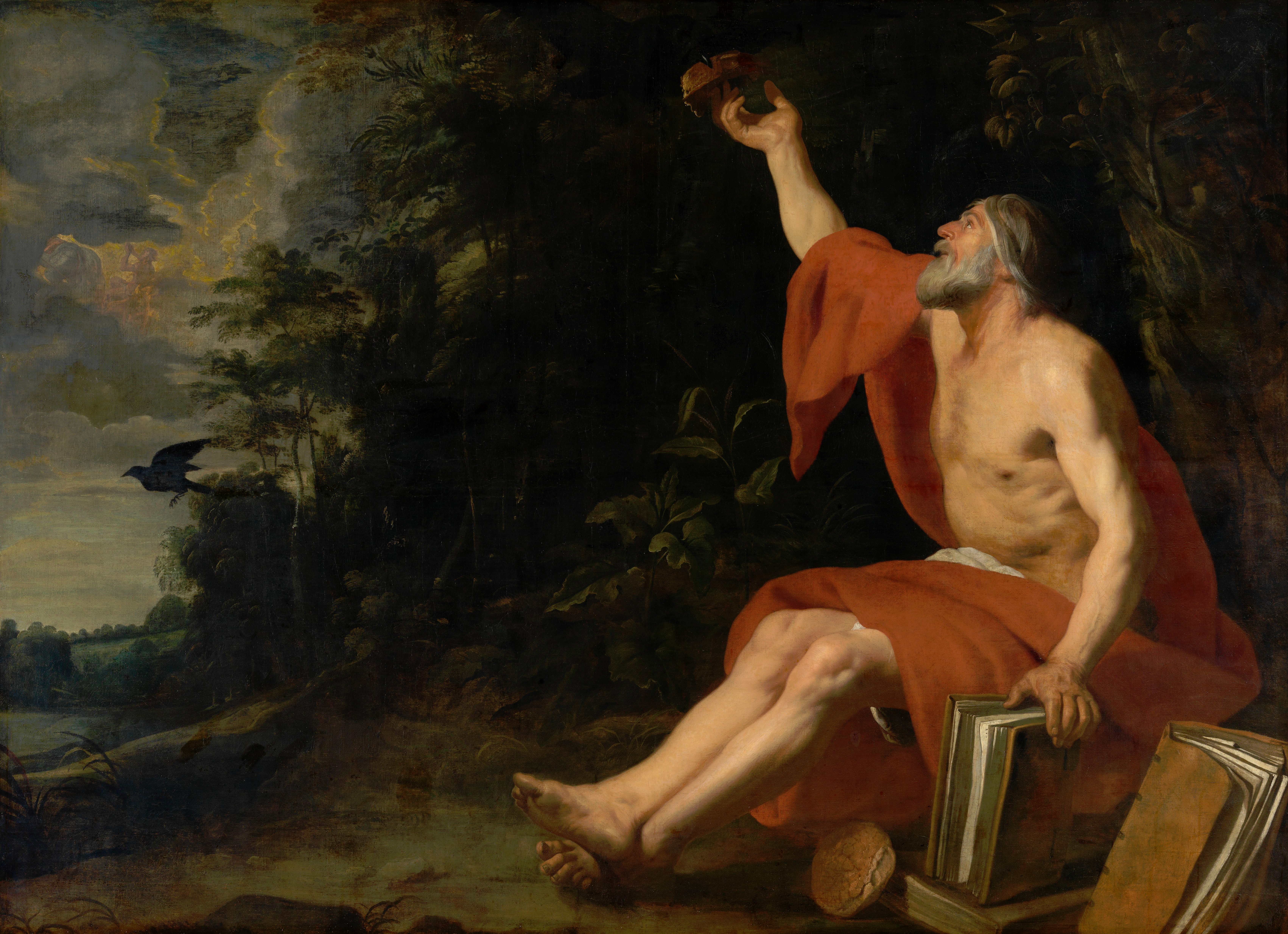 Gaspar de Crayer - The prophet Elijah fed by a raven